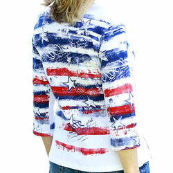 Womens Freedom Ring V-Neck Top