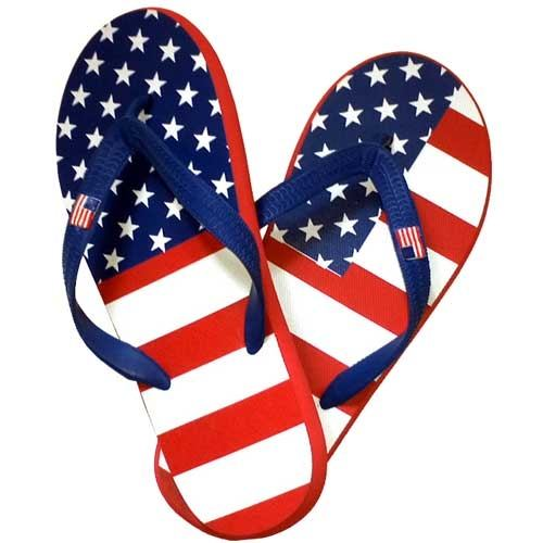 Womens American Flag Flip Flops - The Flag Shirt