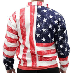 Mens American Flag Jacket with Zip Front - The Flag Shirt