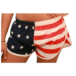 Stars and Stripes Running Short for ladies - The Flag Shirt
