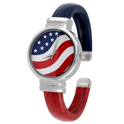 USA Flag Watch - round