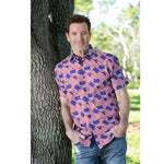 Load image into Gallery viewer, Mens Abstract American Flag Button Up Shirt - The Flag Shirt