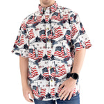 Load image into Gallery viewer, Men's Woven Button-Up Flags & Statue Shirt - the flag shirts