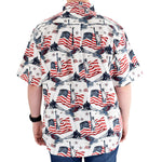 Load image into Gallery viewer, Men's Flags & Statue Button-Up Shirt - the flag shirts