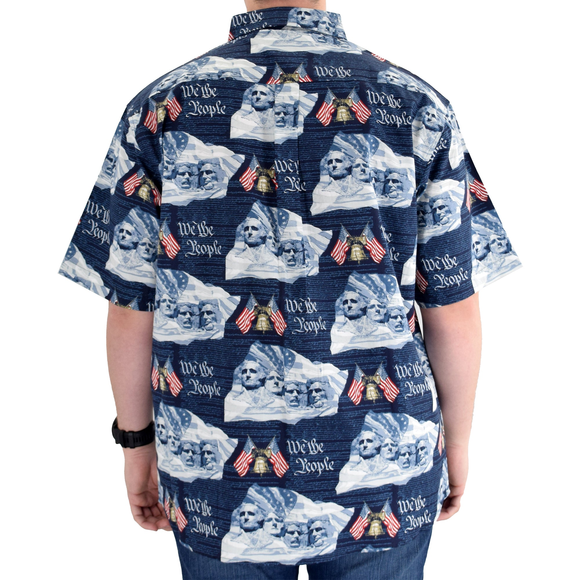 Men's Woven Button-Up Bell & Rushmore Shirt - the flag shirt