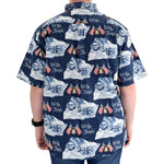 Load image into Gallery viewer, Men's Woven Button-Up Bell & Rushmore Shirt - the flag shirt