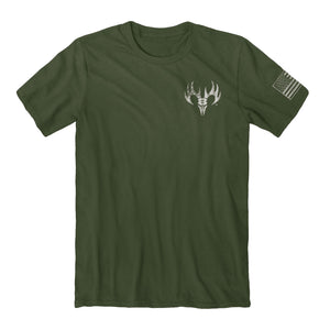 "Buck Wear Men's ""I Served"" USA Flag Graphic Tee in City Green Color"
