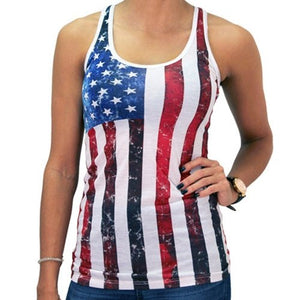 Juniors Racerback Ifse Vertical Flag Tank Top - The Flag Shirt