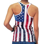 Load image into Gallery viewer, Juniors Racerback Ifse Vertical Flag Tank Top - The Flag Shirt