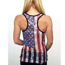Juniors American Flag Skull Tank Top - The Flag Shirt