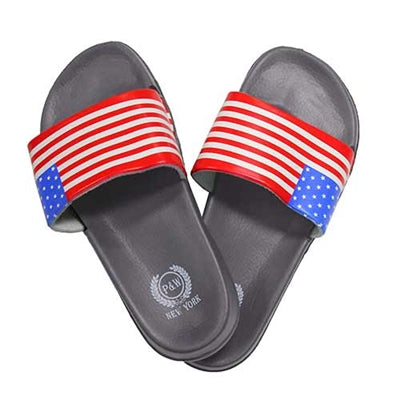 USA Flag Flip Flops Sandals - Grey - The Flag Shirt