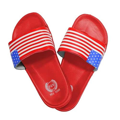 USA Flag Flip Flops Sandals - Red - The Flag Shirt