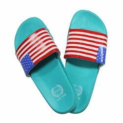 USA Flag Flip Flops Sandals - Teal - The Flag Shirt
