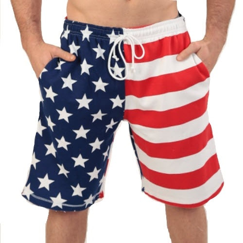 Mens American Flag Stars and Stripes Terry Shorts - The Flag Shirt