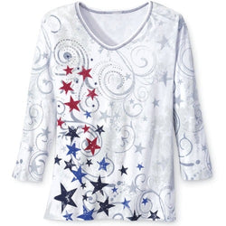 Patriotic Stars Shirt Ladies