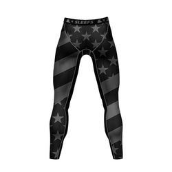 Mens American Flag Leggings - The Flag Shirt