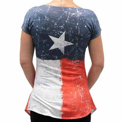 Womens Vintage Texas Flag  T-Shirt - The Flag Shirt