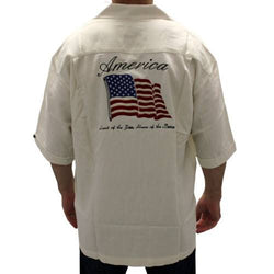 America Land Of The Free Silk Button Up Shirt - The Flag Shirt