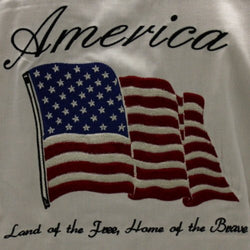 America: Land Of The Free Silk Button Up Shirt - The Flag Shirt