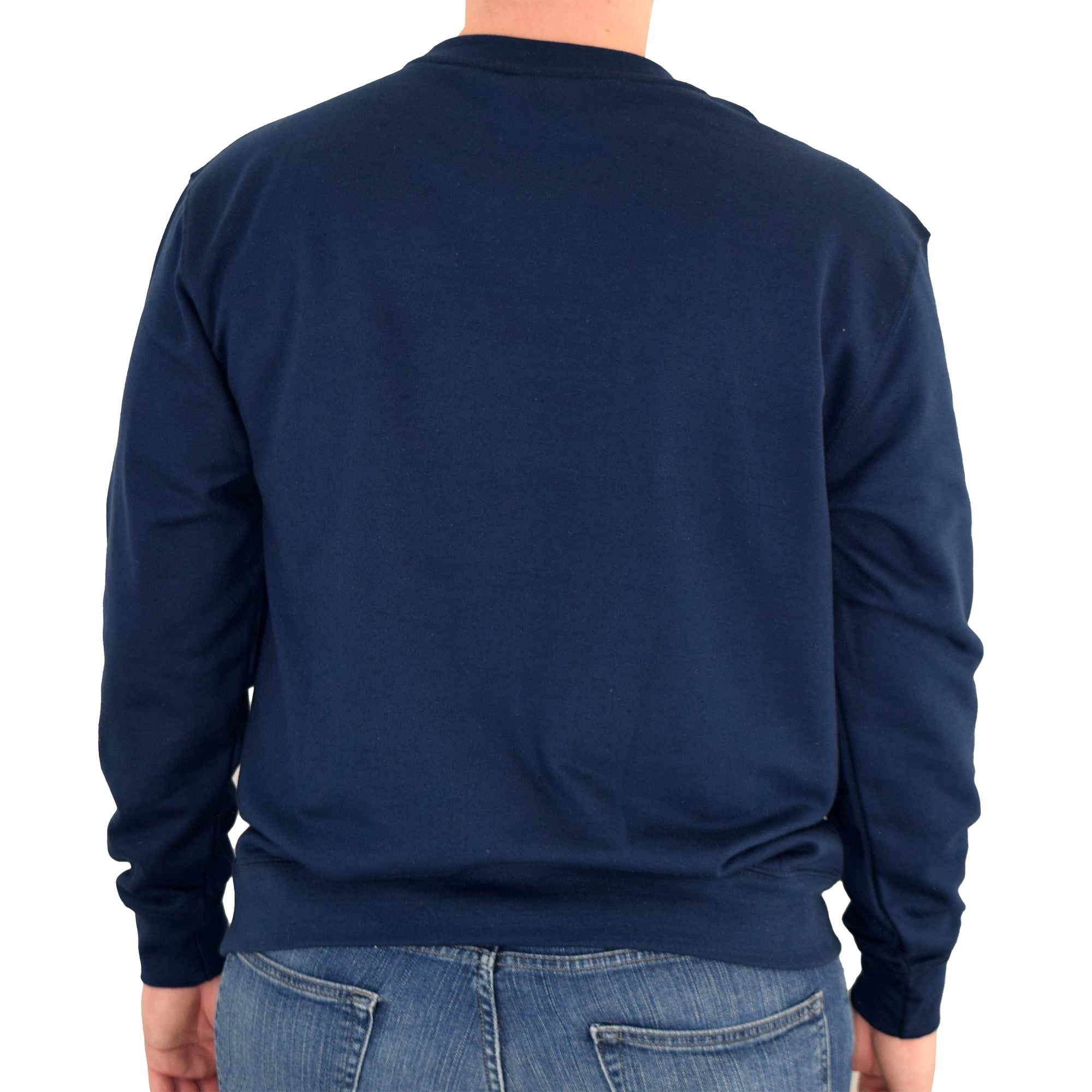 mens usa crewneck fleece sweatshirt navy - the flag shirt
