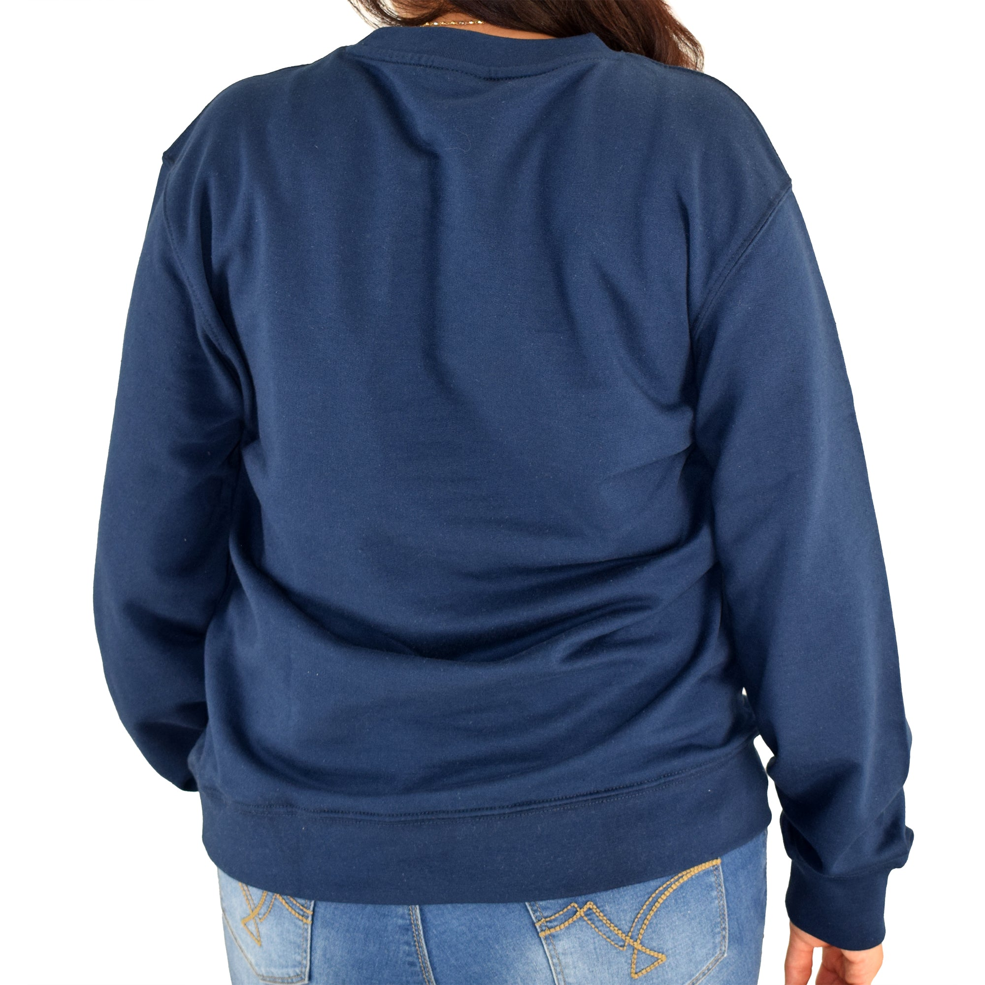 Womens USA Crewneck Fleece Sweatshirt - Navy