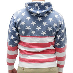 Mens Patriotic Stars Hoodie Sweater - The Flag Shirt