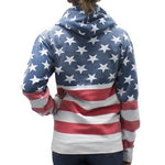 Load image into Gallery viewer, Womens  Patriotic Stars Hoodie Sweater - The Flag Shirt