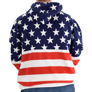 mens patriotic stars navy hoodie sweater - the flag shirt