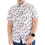 Load image into Gallery viewer, Mens USA Flag Casual Button Down Shirt - theflagshirt