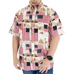 Load image into Gallery viewer, mens vintage allover flag woven shirt - the flag shirt