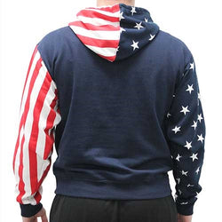 USA Flag Mens Pullover Hoodie - The Flag Shirt