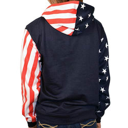 USA Flag Womens Pullover Hoodie