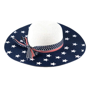 USA Flag Floppy Bow Hat - the flag shirt