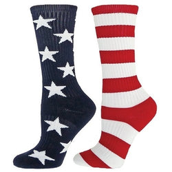 Ladies Mismatched American Flag Socks - The Flag Shirt
