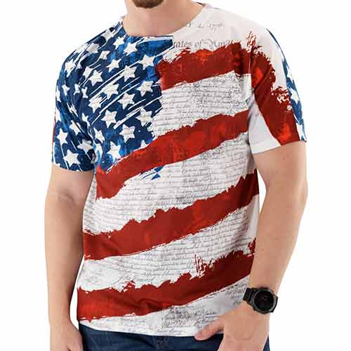 Constitution Sublimation Print Mens Tee - theflagshirt