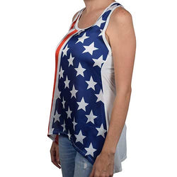 USA American Flag Sleeveless tank top Ladies