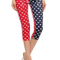 American Flag Jeggings-Capri - The Flag Shirt
