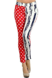 American Flag Jeggings Pants - The Flag Shirt