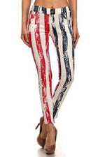Load image into Gallery viewer, American Flag Jeggings Pants - The Flag Shirt