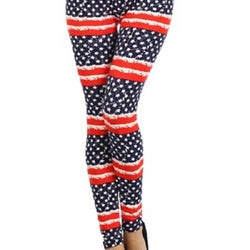 Stars and Stripes Distressed American Flag Leggings - The Flag Shirt