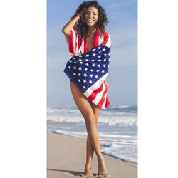 American Flag Beach Towel 30 X 60 - The Flag Shirt