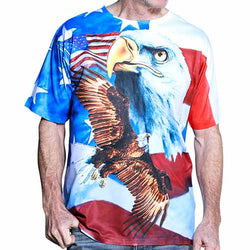 Mens Short Sleeve Sublimation T-Shirt Multi - The Flag Shirt