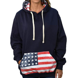 American Flag Women's Pullover Hoodie -996MW-BB - The Flag Shirt