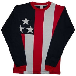 American Flag Adult  Long Sleeve T-shirt - The Flag Shirt