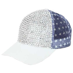American Bling mesh hat with Rhinestones - The Flag Shirt