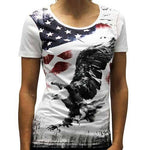 USA Flying Eagle Ladies  Crew Neck T-Shirt