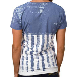 American Flag Stars & Stripes Crew Neck Tee - The Flag Shirt