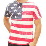 Load image into Gallery viewer, Hand Painted American Flag Mens T-Shirt - The Flag Shirt