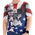 Load image into Gallery viewer, Mens American White Eagle T-Shirt - theflagshirt