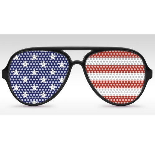 Aviator American Flag Sunglasses - The Flag Shirt
